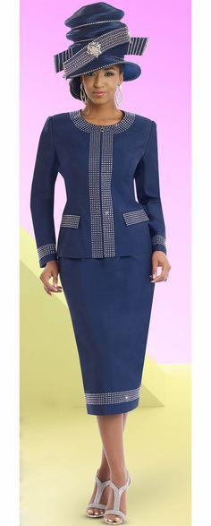 d191a86dc9e Donna Vinci 11528 Two Piece Womens Suit With Rhinestones