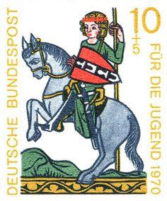 German horse stamp 1970