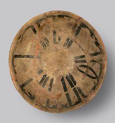 Slip Painted Calligraphic Bowl - ADC.176 Origin: Central Asia Circa: 10 th Century AD to 11 th Century AD