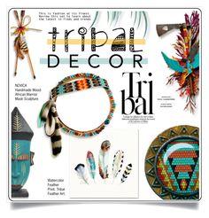 """Tribal Decor"" by ewa-naukowicz-wojcik ❤ liked on Polyvore featuring interior, interiors, interior design, home, home decor, interior decorating, NOVICA and tribaldecor"