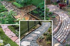 Garden Pathways Materials Image 327 Landscaping Ideas for Front Yard Garden Yard Ideas, Garden Paths, Lawn And Garden, Small Patio Ideas On A Budget, Budget Patio, Small Backyard Landscaping, Landscaping Ideas, Backyard Ideas, Walkway Ideas