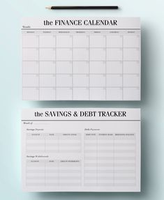 A4 Budget Planner Kit Printable Financial von CrossbowPrintables