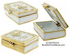 White Bible trinket box (to hold rings?)