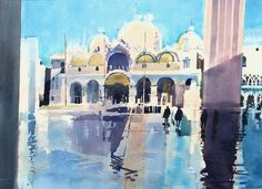 'After the Rain', Ian Potts, watercolour, Venice Watercolor And Ink, Watercolor Paintings, Watercolours, Winslow Homer, Andrew Wyeth, Artsy Fartsy, Places To Visit, Rain, Bobs