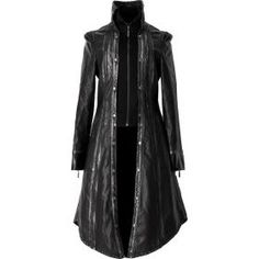 Women's black-silver coat with wings detail
