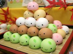 Traditional Cake of Japanese Kawaii Mochi
