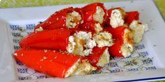 Fırında Peynirli Kırmızı Biber Dolması Tarifi