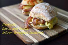 Bacon and Gouda Breakfast Sandwich