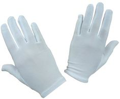 c8ccfa18f3935 N'Ice Caps Girls Stretch White Special Occasion Parade Gloves nylon stretch  Wear for weddings, Easter dress up, parade, dance recitals Available in 5  sizes ...