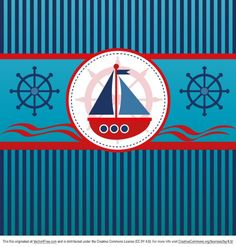 Download here Free Vintage Nautical Background With Two Color Stripes Vector Graphic in EPS file format.This is nice boat with waves in their background