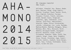 Ahamono is a free monospaced typeface.