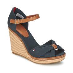 Hilfiger Denim Sporty Denim Flatform, Sandales Plateforme Femme, Noir (Black 990), 40 EUTommy Jeans