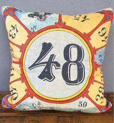 circus natural history pillow eclectic pillows