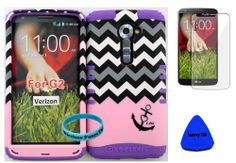 Wireless Fones TM High Impact Hybrid Rocker Case for LG G2 VS980(Verizon only) Hard Baby Pink Block Chevron with Tiny Anchor Design on Purple Silicone with Screen Protector, iSavvy Pry Tool & Wrist Band wireless fones,http://www.amazon.com/dp/B00ILGD3BI/ref=cm_sw_r_pi_dp_1v4mtb18A5D44R0Q