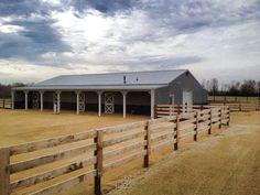 Horse barn idea: Horse Arena, Horse Stables, Horse Farms, Mini Horse Barn, Horse Barn Plans, Simple Horse Barns, Barn Stalls, Horse Shelter, Farm Layout