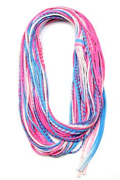 Blue Pink Scarf, Blue Pink Infinity Scarf, Neon Accessories, Spring