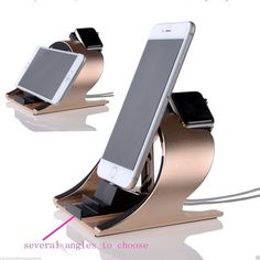 The solid stand for Apple watch/iPhone is constructed of premium aluminum, precise charger, cable openings support the iwatch at a stable display and quick charging, the iPhone charging stand provides comfortable viewing angle for watching, reading, or facetime.