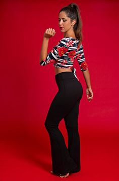Flared Lounge Leggings – Tango With Love Off Duty, Mix N Match, Workout Tops, Tango, Casual Wear, Capri Pants, How To Make, How To Wear, Lounge