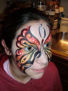amazing butterfly face paint
