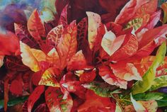 Crouton Craze 42 x 60  Watercolor on Aquabord www.karenvernon.com