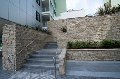 This cladding is commonly used to liven up feature walls, façades and retaining walls. #granitecladding #outdoorlife #cladding #sydneybuider #stonecladding #featurewall #outdoorenvirenment #cappingstone