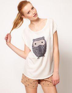 {Oasis Owl Front Tshirt}