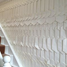 Handmade Origami Wallpaper by Tracey Tubb | Love Chic Living