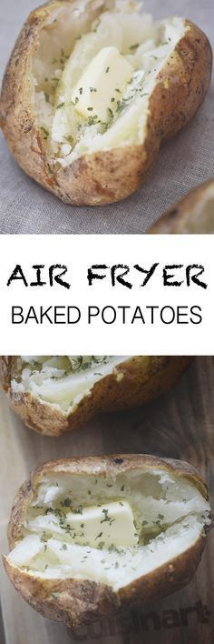 Air Fryer Baked Potatoes #AirFryer #potatoes Recipe Diaries