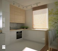 Średnia otwarta kuchnia w kształcie litery l w aneksie, styl tradycyjny - zdjęcie od TAKE [DESIGN]