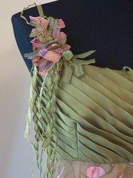 chiffon lacework dress detail