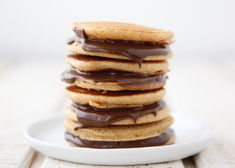 Add some scrumptious Chocolate Sun Butter Pancake Sandwiches to school lunch for a nut free and tasty treat!