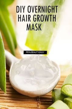 Hair Growth Mask – Coconut Oil and Aloe Vera Gel # Hair Care Hair Mask For Growth, Hair Growth Tips, Hair Care Tips, Aloe Vera Gel For Hair Growth, Aloe Vera Hair Mask, Overnight Hair Growth, Overnight Hair Mask, Coconut Oil Hair Treatment, Coconut Oil Hair Mask