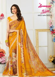Look Awesome at an Any Occasion By Wearing The Saree. Make A Statement By Donning This Stylish Sarees. Rich in Material and of Pure Ethnic Essence, This Saree Will Be a Collector's Item in Your Fabulous Collection. Laxmipati Sarees, Indian Clothes Online, Stylish Sarees, Printed Sarees, Sarees Online, Daily Wear, Bridal Collection, Indian Outfits, Casual Wear