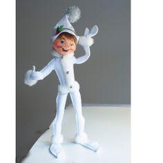 """Annalee White Silver Sparkle Elf 2013 - 14"""" - Annalee Gallery"""