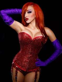 Jessica Rabbit w/ a Pinup Twist  Photographer: 9Stitches Images   Model: Pinup Doll Ashley Marie