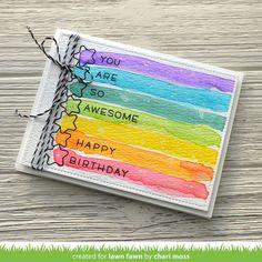 50 ideas birthday card diy watercolor lawn fawn for 2019 Watercolor Birthday Cards, Birthday Card Drawing, Watercolor Cards, Watercolour Painting, Bday Cards, Happy Birthday Cards, Creative Birthday Cards, Simple Birthday Cards, Happy Birthdays