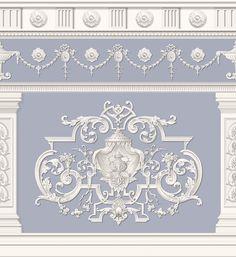 Decorative Mouldings, Decorative Panels, Trumeau, Steinmetz, Wall Painting Decor, Grisaille, Mural Art, Architectural Elements, Interior Paint