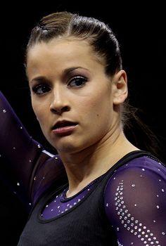 Elite Gymnastics, Gymnastics Posters, Gymnastics Pictures, Olympic Gymnastics, Gymnastics Girls, Alicia Sacramone, Paris Berelc, Gymnastics Championships, Red Bodysuit