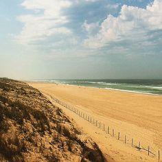 Plage immense, calme absolu, souvenirs souvenirs... #mimizan  #mimizanplage  #plage  #sable  #ocean  #landes  #onestbien 😍