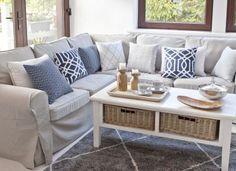 Farby horúceho leta    #obyvacka#potahnasedacku#ikea#vankuse#koberec Outdoor Sectional, Sectional Sofa, Couch, Outdoor Furniture Sets, Outdoor Decor, Ikea, Cushions, Home Decor, Comic Book