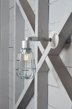 Industrial Wall Lamp  Outdoor Wire Cage Exterior Wall by IndLights, $85.00