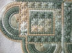 White Tan & Green Heart Doily by MastersCreations on Etsy, $12.00