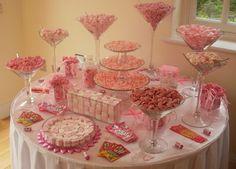 pink sweet table wedding 4ft angle