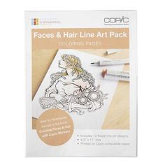 COPIC Coloring Foundations Collection - Faces & Hair Line Art Pack