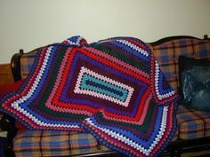 Giant rectangle granny Afghan : free pattern