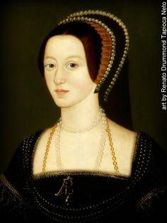 Mary and Anne Boleyn Portraits Wives Of Henry Viii, King Henry Viii, Queen Anne, King Queen, Royal Family Trees, Old Portraits, Fashion History, Women's Fashion, Tudor History