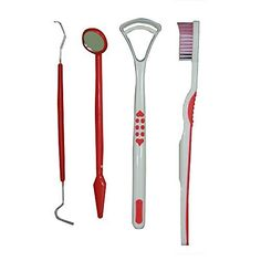 Complete Oral Care Kit  All The Age 4 Pieces Dental Solution Kit Red by Schne Health UK >>> Continue to the product at the image link-affiliate link. #OralCare