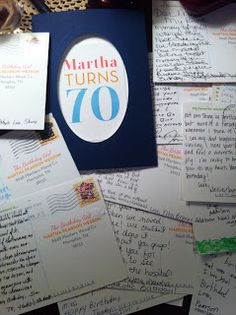 AD's ADVENTURES: 70 Birthday Postcards for Martha