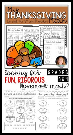 6ce41daef4111 My Thanksgiving Math Packet