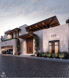 Modern Exterior House Designs, Modern Architecture House, Dream House Exterior, Modern House Design, Exterior Design, House Gate Design, House Front Design, Small House Design, Industrial Home Design